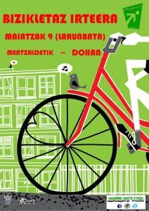 cartel salida bici